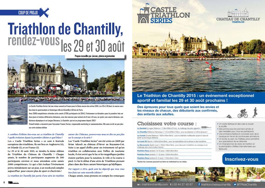 TrimaX#142 vous donne rendez-vous les 29 et 30 août au Triathlon de Chantilly