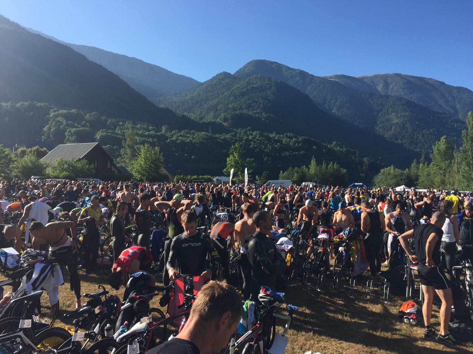 Triathlon EDF Alpe d'Huez LD : le départ dans quelques minutes