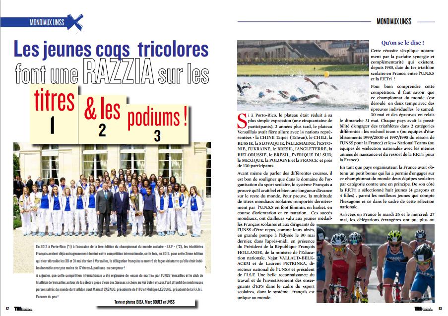 A lire dans TrimaX#142 : Les jeunes coqs tricolores font une razzia sur les titres et les podiums