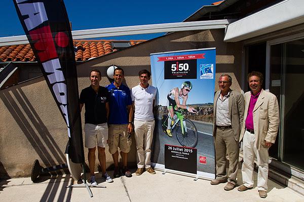 IRONMAN, CarmaSport, les Sardines Triathlon et la ville de Marseille ont présenté ce matin le Triathlon 5150 Marseille