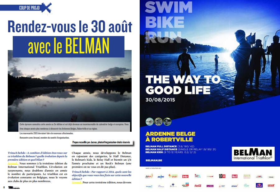 TrimaX#143 vous donne rendez-vous le 30 août au triathlon du Belman