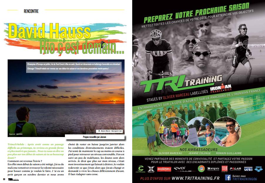 A lire dans TrimaX#143 : David Hauss Rio c'est demain…