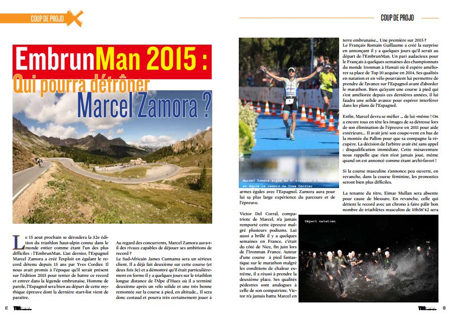 A découvrir dans TrimaX#143 : Qui pourra détrôner Marcel Zamora à l'EmbrunMan 2015 ?