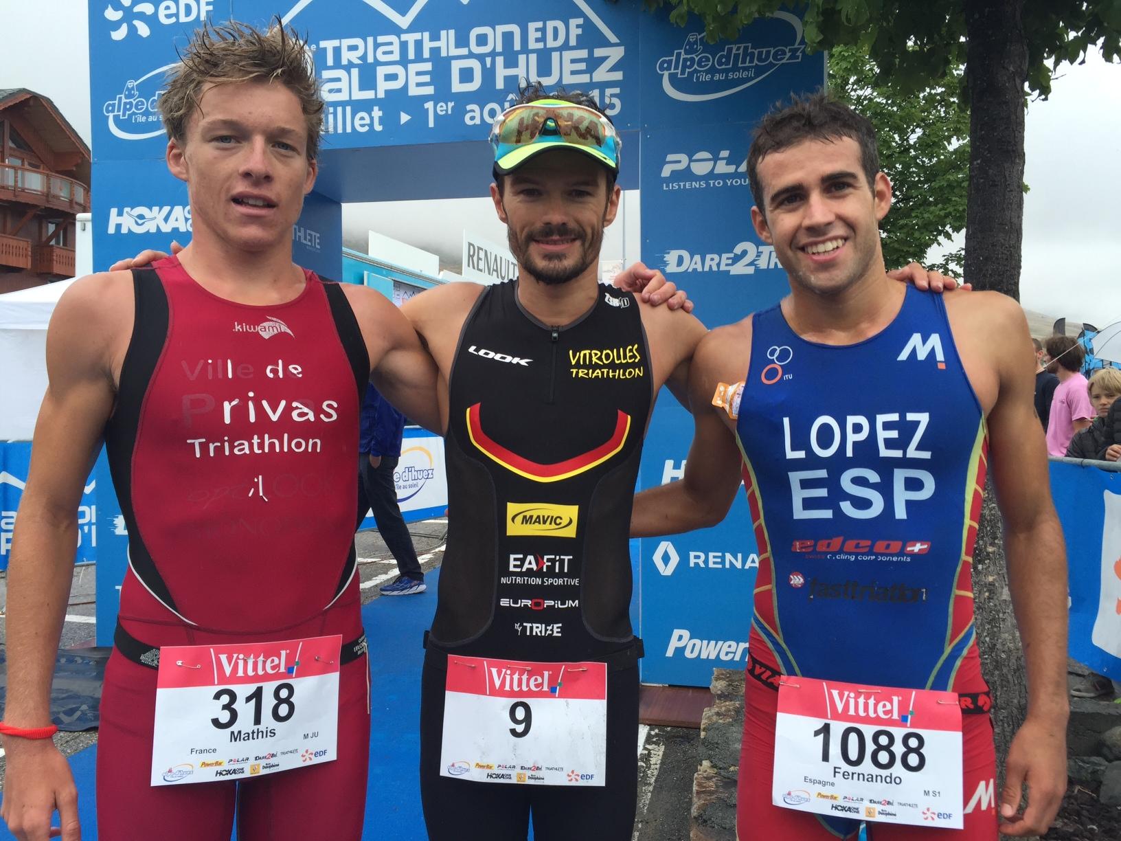 Frederic Belaubre remporte cette 10e édition du triathlon EDF de l'Alpe d'Huez