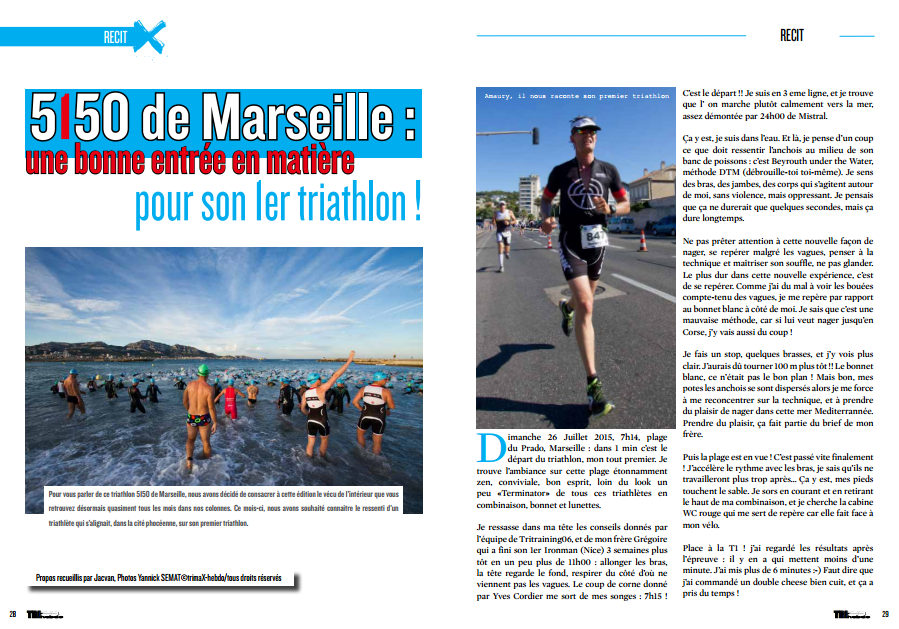 A découvrir dans TrimaX#143 : le premier triathlon du 5150 de Marseille