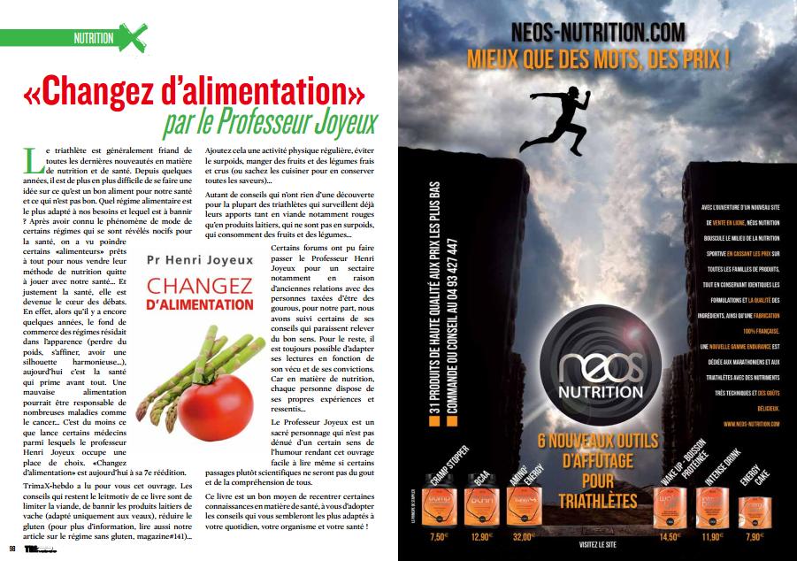 TrimaX#143 vous parle de la nutrition vu par le Professeur Joyeux