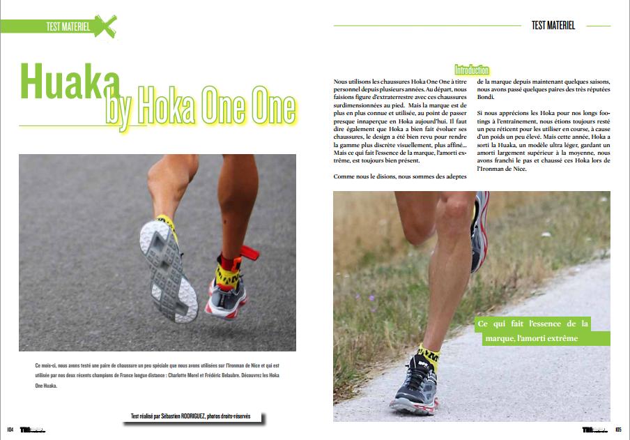 A lire dans TrimaX#143 le test matériel des Huaka de Hoka One One