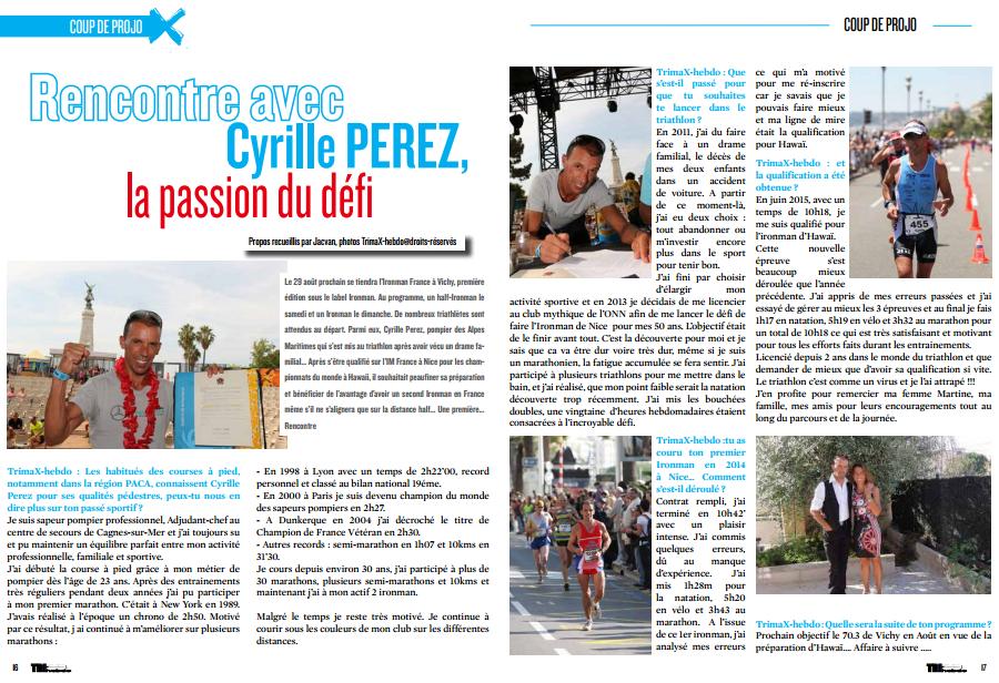 A ne pas manquer dans TrimaX#143 : Rencontre avec Cyrille PEREZ