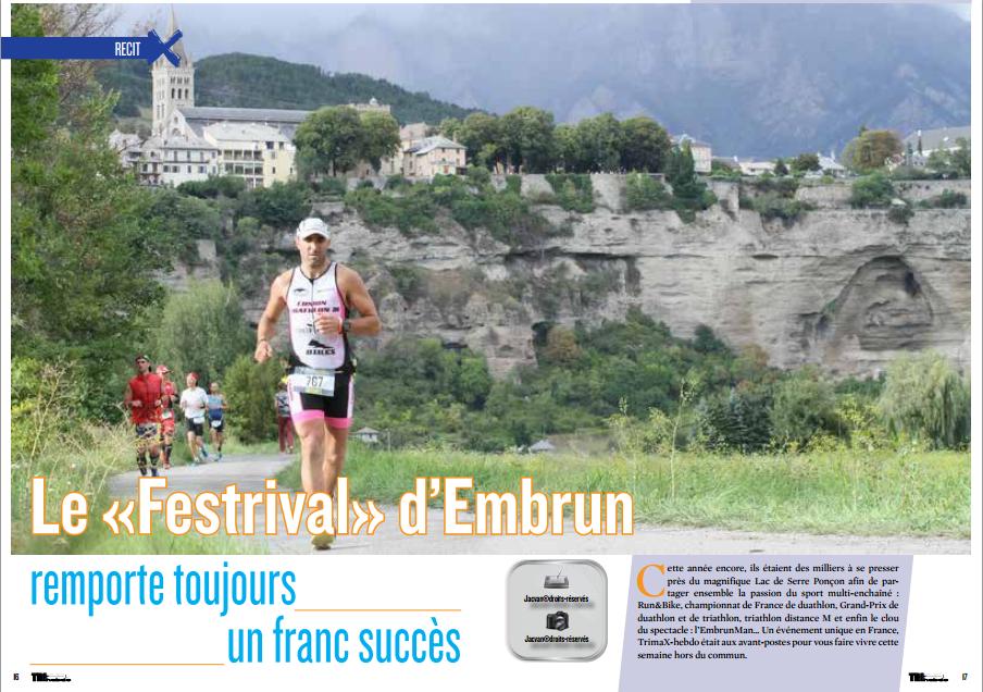 A lire dans TrimaX#144 : le «Festrival» d'Embrun remporte toujours un franc succès
