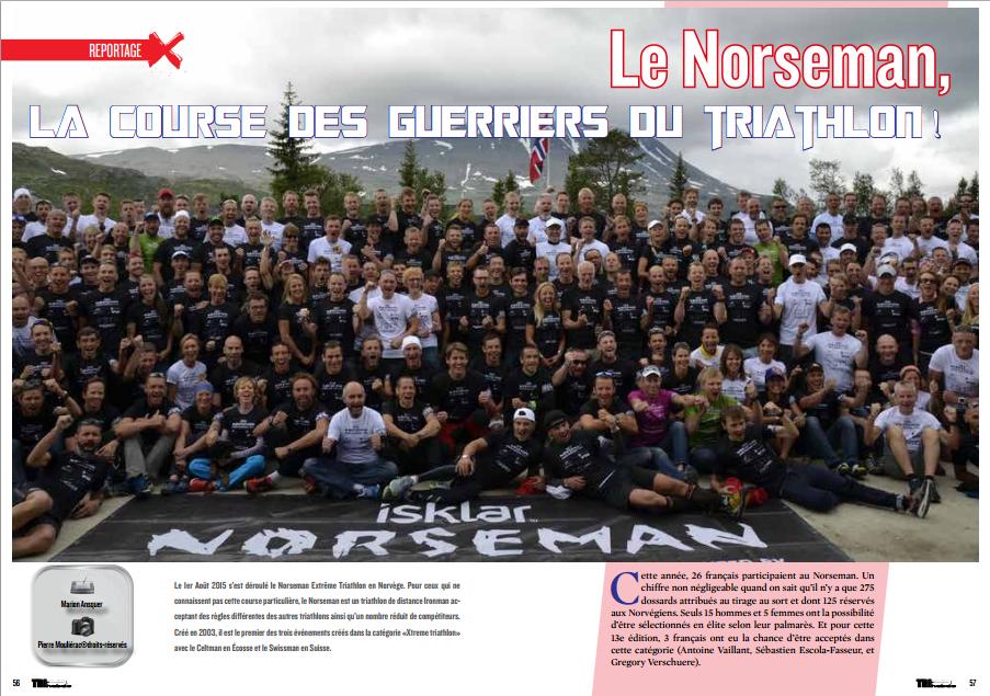 Le Norseman, la course des guerriers du triathlon ! à lire dans TrimaX#144