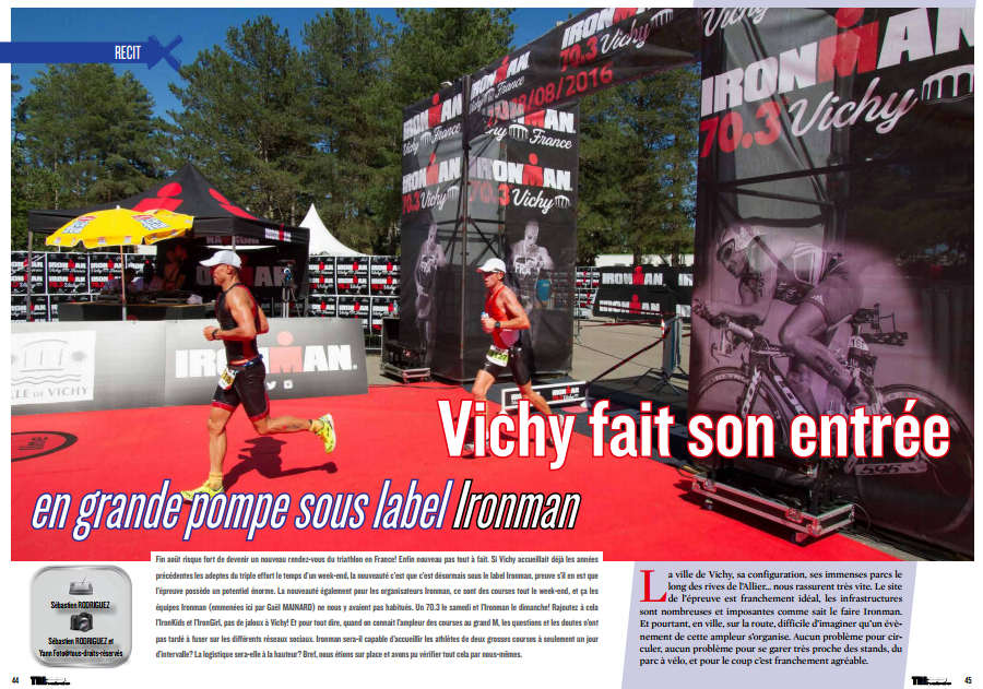 A découvrir dans TrimaX#145 : Vichy fait son entrée en grande pompe sous label Ironman
