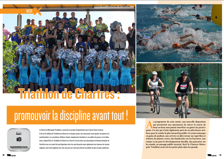 Dans TrimaX#146 ce mois-ci le Triathlon de Chartres : promouvoir la discipline avant tout !