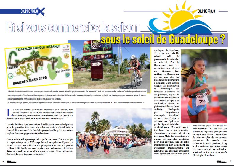 A lire dans TrimaX#147 : Et si vous commenciez la saison sous le soleil de Guadeloupe ?