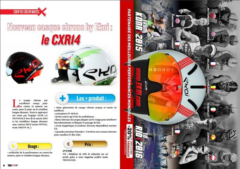 A découvrir dans TrimaX#148 le nouveau casque chrono by Ekoi : le CXR14