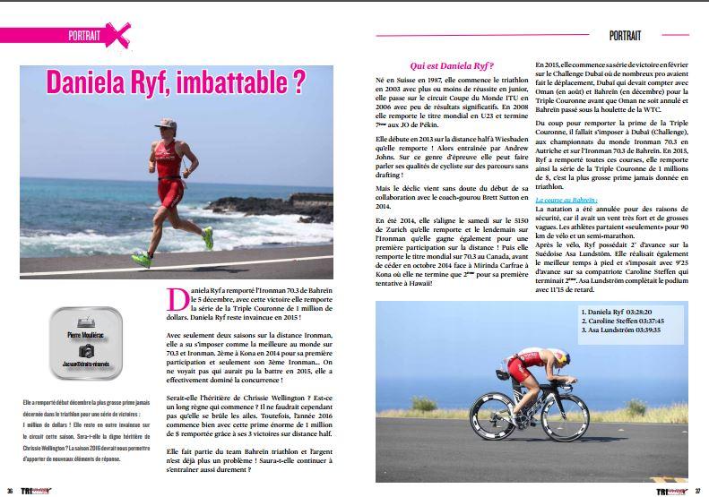 A lire dans TrimaX#148 : Daniela Ryf, imbattable ?