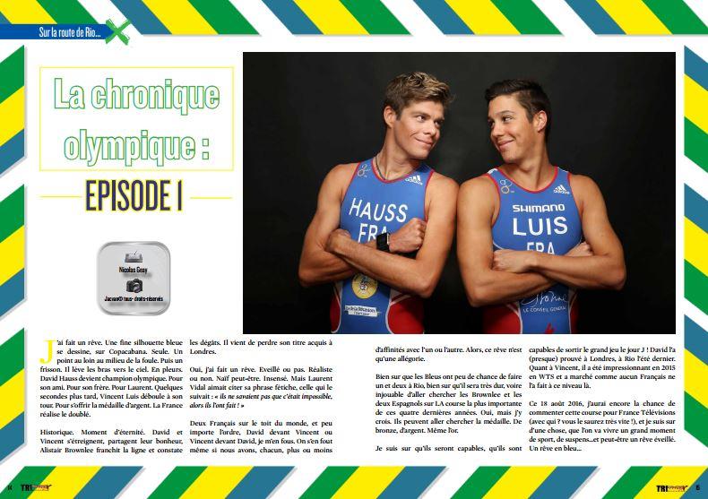 Découvrez dans TrimaX#148 La chronique olympique : EPISODE 1