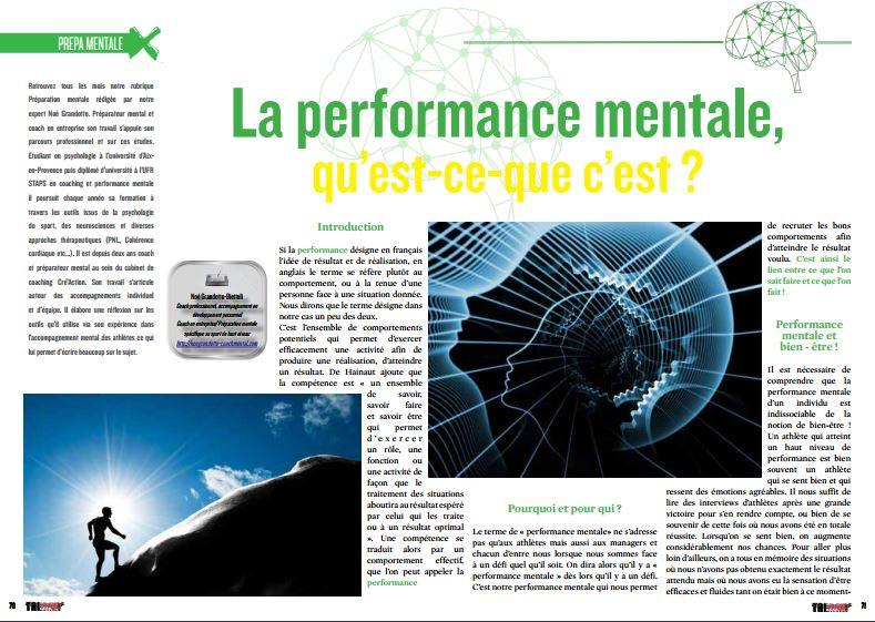 A lire dans TrimaX#148 : La performance mentale, qu'est-ce-que c'est ?