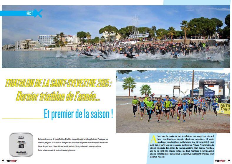 A ne pas manquer dans TrimaX#148 le triathlon de la Saint-Sylvestre 2015