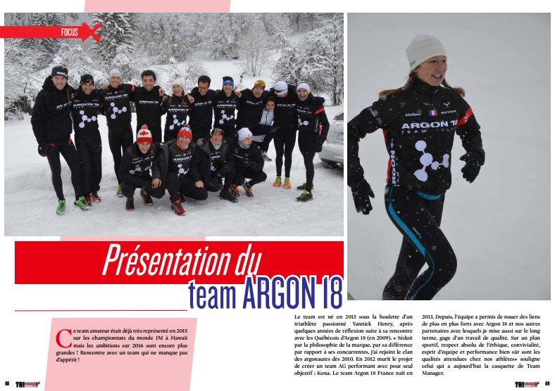 TrimaX#149 vous présente la team ARGON 18