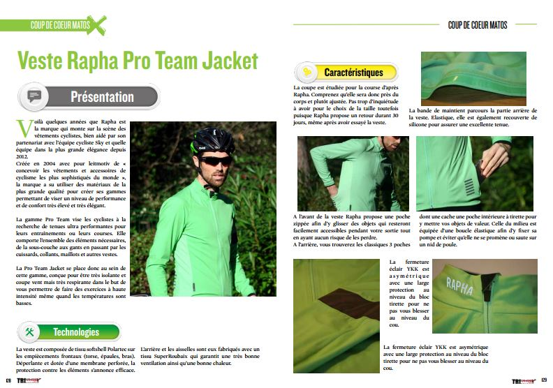 A découvrir dans TrimaX#149 : Veste Rapha Pro Team Jacket