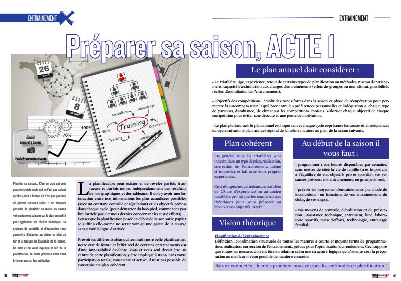 Découvrez dans TrimaX#149 comment préparer sa saison, ACTE 1