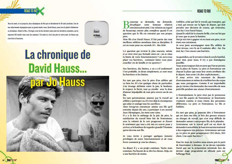 A lire dans TrimaX#149 : La chronique de David Hauss… par Jo Hauss