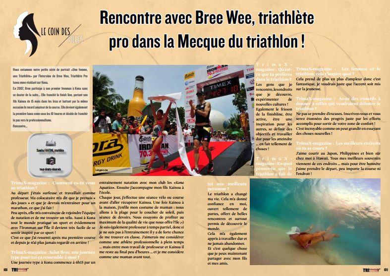 TrimaX#149 a rencontré Bree Wee, triathlète pro dans la Mecque du triathlon !