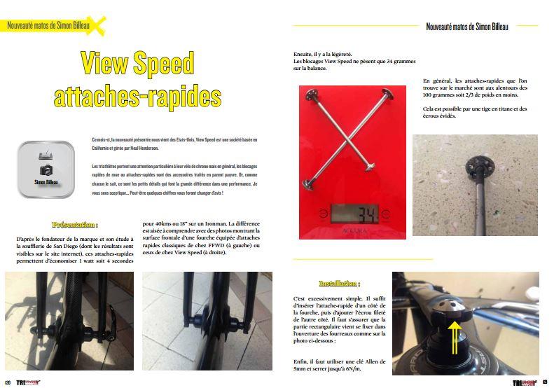 Découvrez dans TrimaX#149 : View Speed attaches-rapides