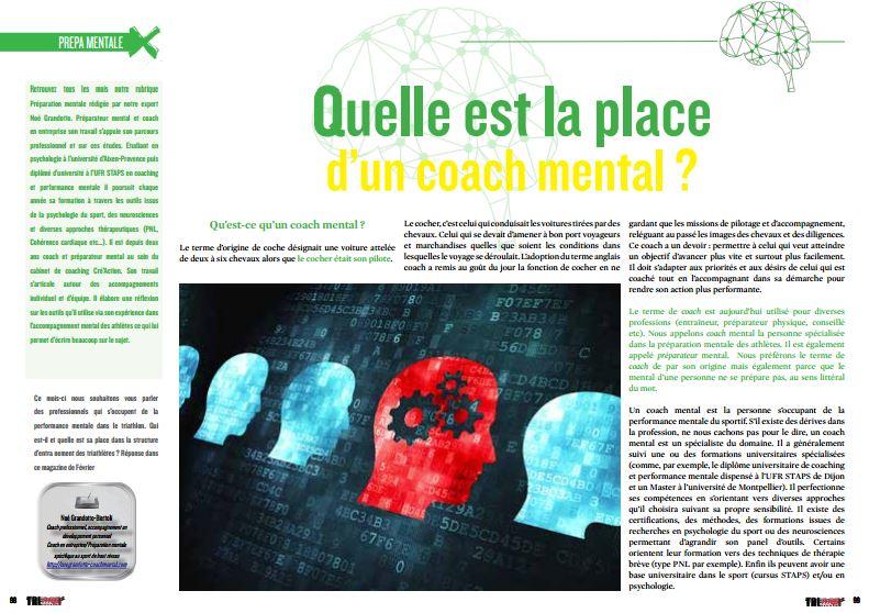 TrimaX#149 s'est demandé quelle est la place d'un coach mental ?