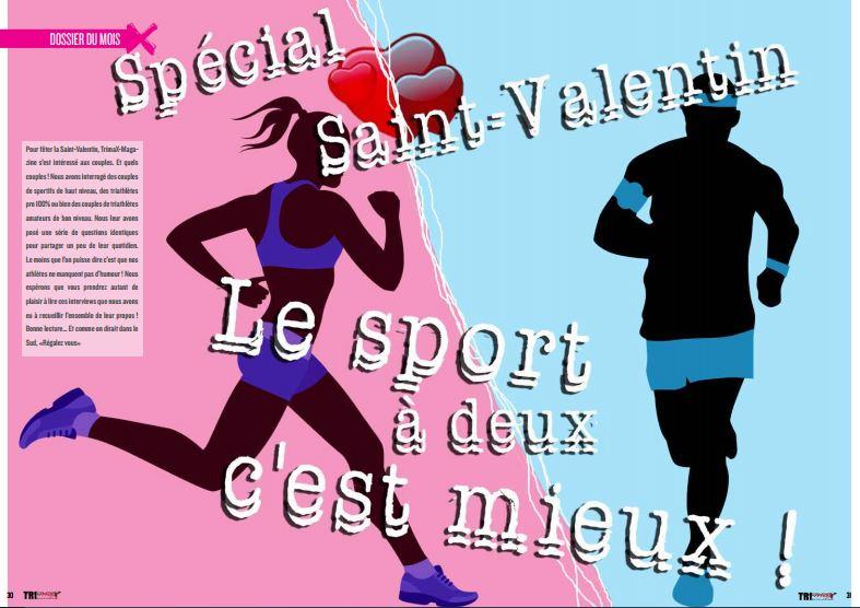 Dossier spécial St Valentin dans TrimaX#149: le sport à deux c'est mieux