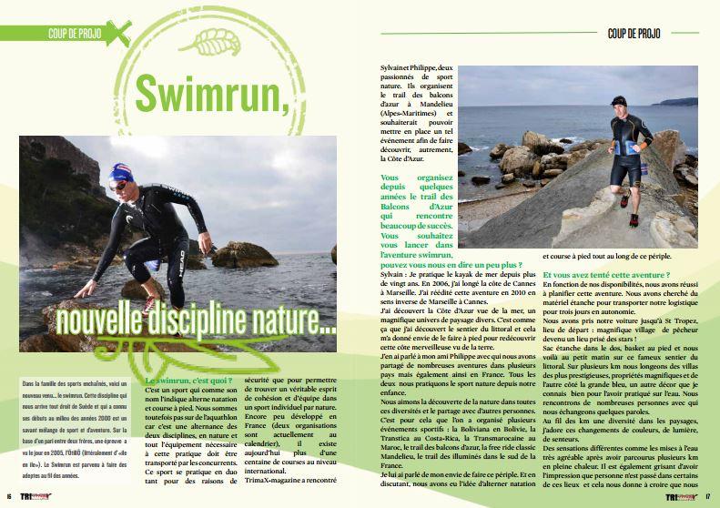 A découvrir dans TrimaX#149 : Swimrun, nouvelle discipline nature…