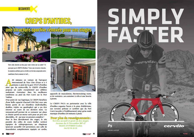 A lire dans TrimaX#150 : CREPS D'ANTIBES, une structure sportive rénovée pour vos stages