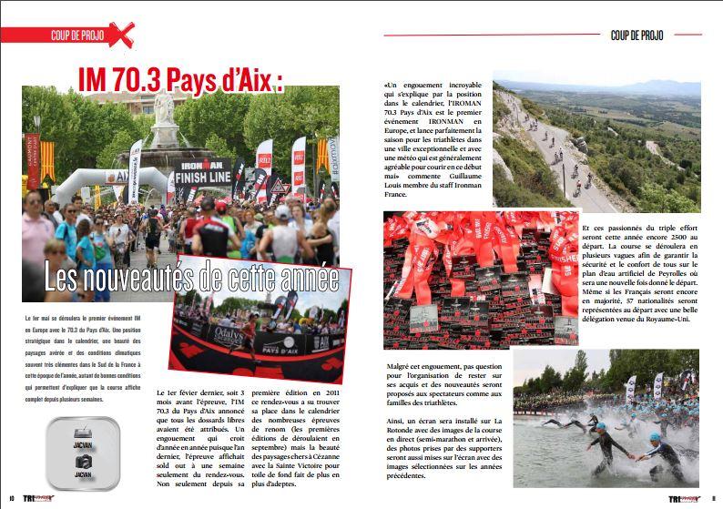 Découvrez dans TrimaX#150 les nouveautés de l'IM 70.3 Pays d'Aix