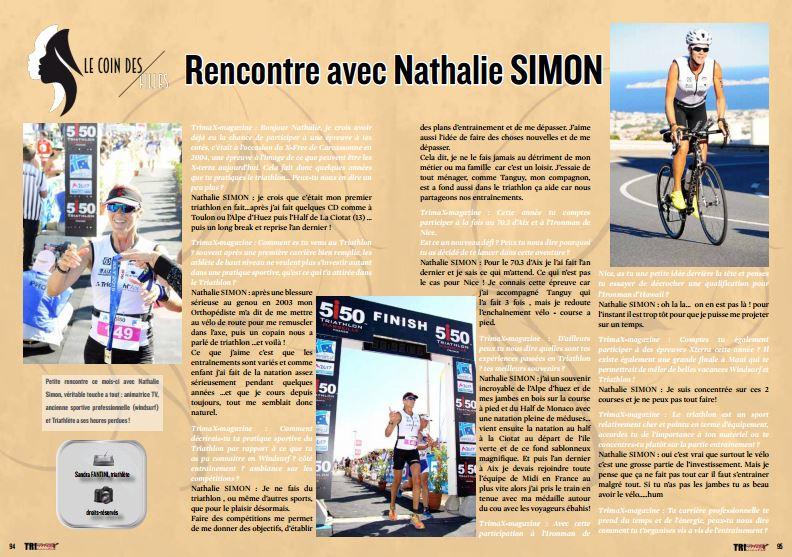 A lire dans TrimaX#150 la rencontre avec Nathalie SIMON