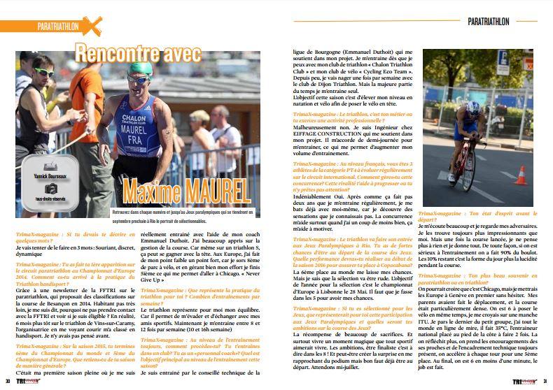 TrimaX#150 a rencontré Maxime MAUREL