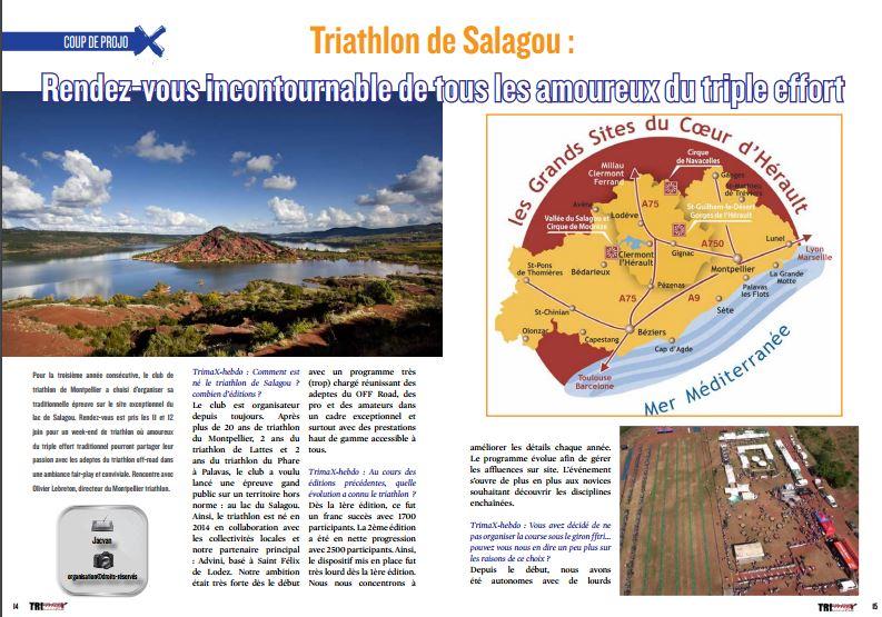 A lire dans TrimaX#150 : Triathlon de Salagou : Rendez-vous incontournable de tous les amoureux du triple effort