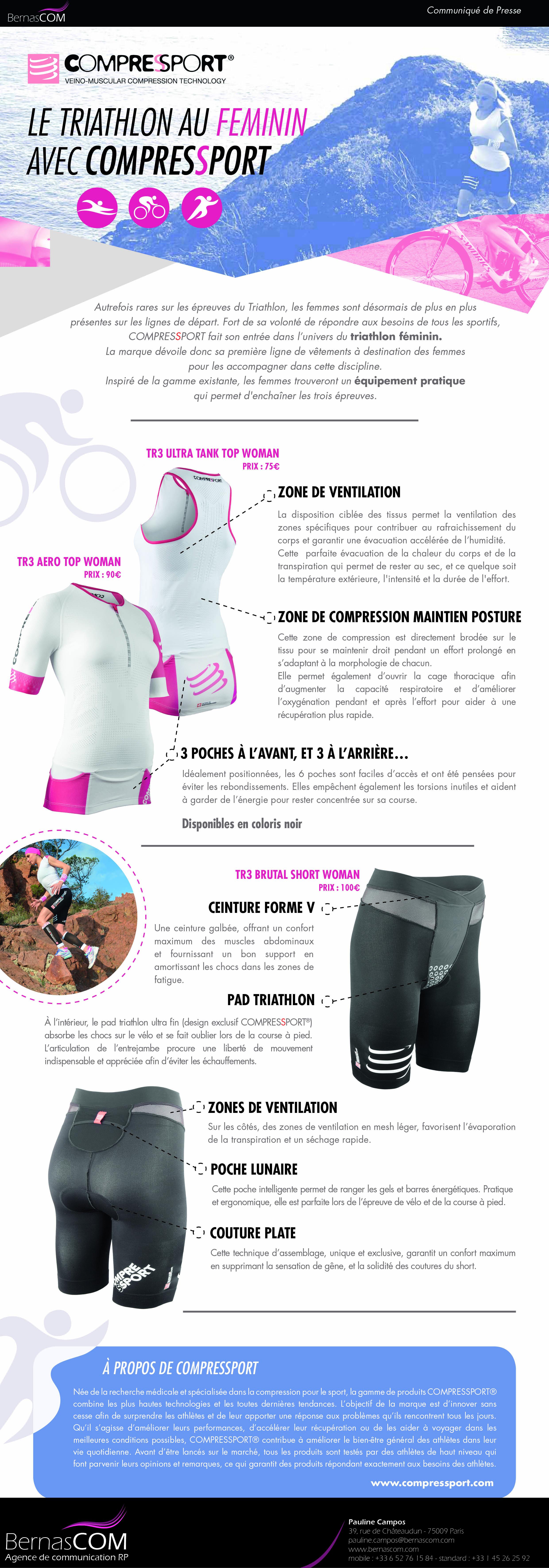 COMPRESSPORT lance une nouvelle gamme pour les femme triathlètes !