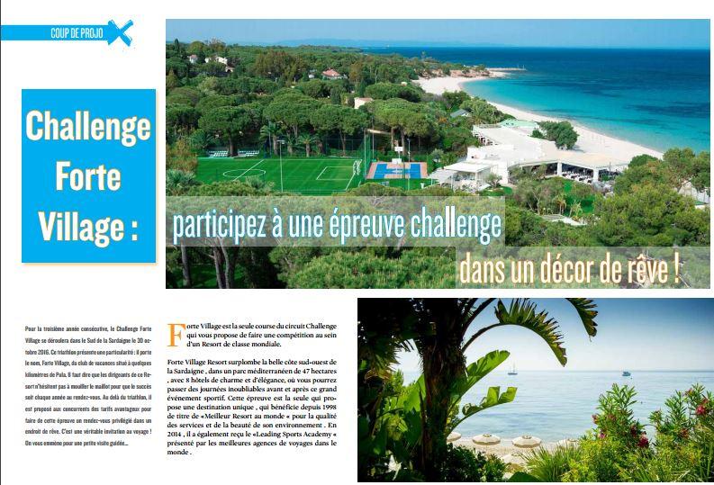 Découvrez challenge Forte Village dans TrimaX#151