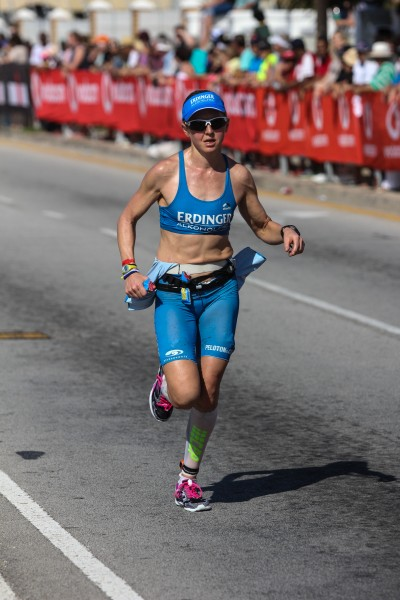 """""""PORT ELIZABETH, SOUTH AFRICA - APRIL 10: In this handout image provided by Ironman Lucy Gossag runs during the Standard Bank IRONMAN African Championship at Nelson Mandela Bay, Port Elizabeth on April 10th, 2016 in Port Elizabeth, South Africa. (Photo by Craig Muller/IRONMAN via Getty Images)"""""""