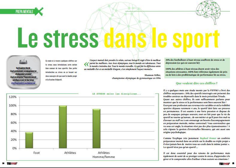 Retrouvez dans TrimaX#151 le stress dans le sport