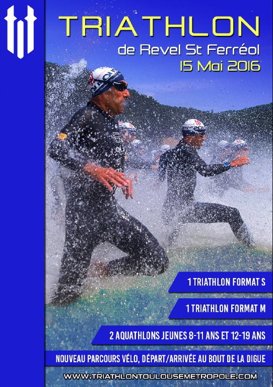 Triathlon de Revel le 15 mai