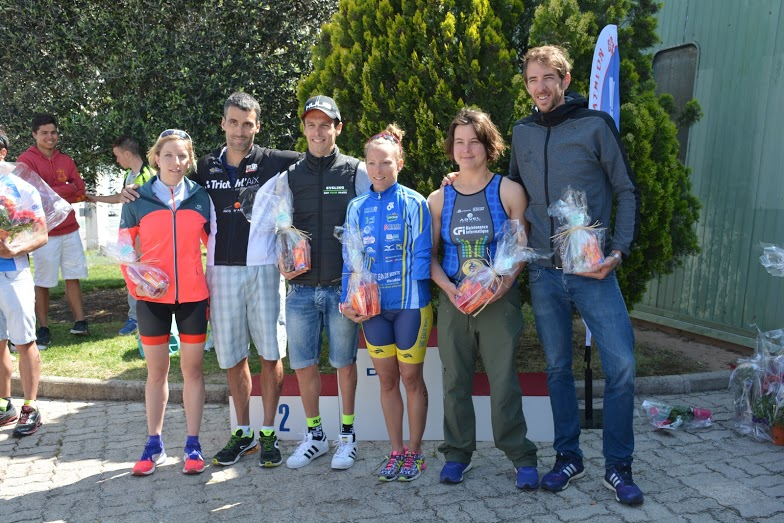 Victoire de Magnien et Lemoussu au 1er triathlon S CLM de Draguignan