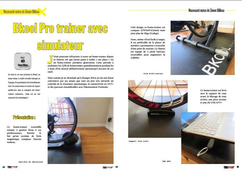 A découvrir dans TrimaX# 152 : Bkool Pro trainer avec simulateur