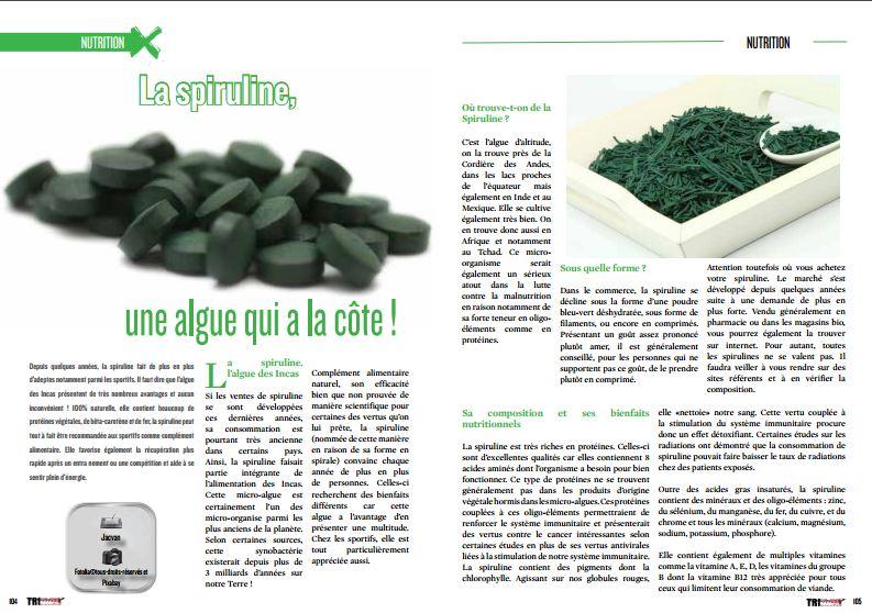 A ne pas manquer dans TrimaX#152 : La spiruline, une algue qui a la côte !