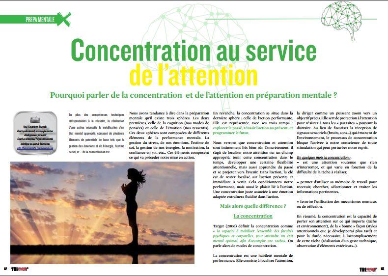 A lire dans TrimaX#1512 : concentration au service de l'attention