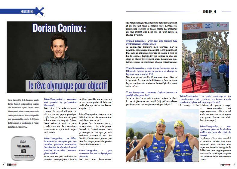A lire dans TrimaX#152 Dorian Coninx : le rêve olympique pour objectif