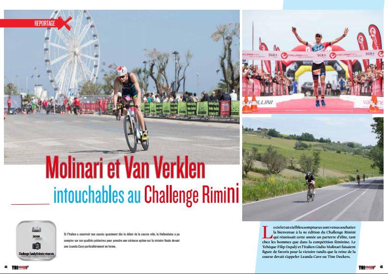 Molinari et Van Verklen intouchables au ChallengeRimini, à lire dans TrimaX#153