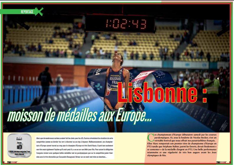 A lire dans TrimaX#153 : Lisbonne : moisson de médailles aux Europe…