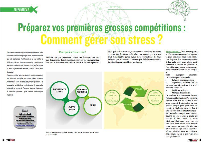 Découvrez dans TrimaX#153 comment gérer son stress  pour vos premières grosses compétitions