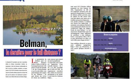 Belman, la dernière pour le full distance ?, la réponse dans TrimaX#154